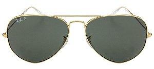 Óculos de Sol Ray-Ban Aviador RB3025L 001/58 Polarizado
