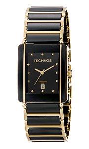 e8ada1f5951b0 Relógio Technos Feminino Elegance Ceramic Sapphire Analógico GN10AAPAI 4P