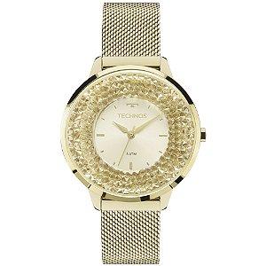 Relógio Technos Feminino Elegance Crystal Swarovski Analógico 2035MLG/4X