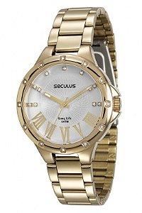 Relógio Seculus Feminino Long Life Analógico 28568LPSVDA1