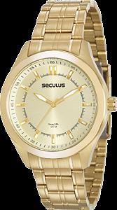 Relógio Seculus Masculino Long Life Analógico 20583GPSVDA2