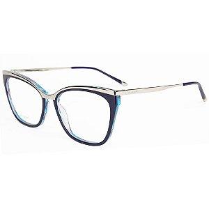8903fe33dec6d Armação Óculos de Grau Hickmann Feminino HI6061 H02 - Ótica Quartz
