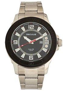9c6b1918980 Relógio Seculus Masculino Long Life Analógico 20501G0SVNA1 - Ótica ...