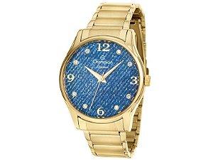 Relógio Champion Feminino Elegance Jeans Analógico CN26975A