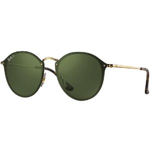 Óculos de Sol Ray-Ban Blaze Round RB3574N 001/9A 59 Polarizado