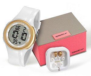 Kit Relógio Speedo Feminino Digital 80587L0EVNP1K1 com Fone de Ouvido