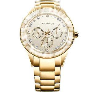 Relógio Technos Feminino Elegance Crystal Swarovski Analógico 6P29AHD/4X