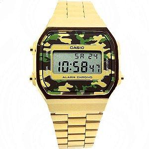 Relógio Casio Unissex Vintage Digital A168WEGC3DF