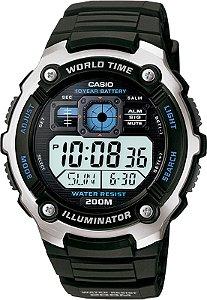 Relógio Casio Masculino World Time Digital AE2000W1AVDF