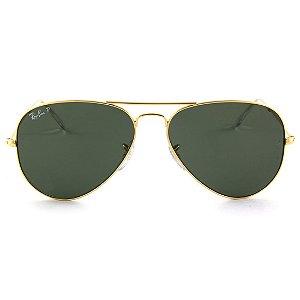 Óculos de Sol Ray-Ban Aviador RB3025L 001/58 62 Polarizado