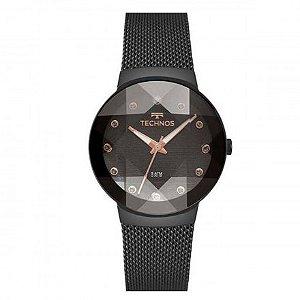 Relógio Technos Feminino Crystal Preto 2035mpy/5p