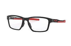 Armação Óculos de Grau Oakley Satin Black  Red Metalink OX8153-0655