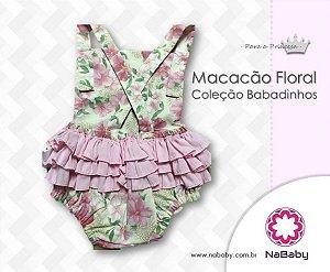 Macacão Floral Coleção Babadinhos