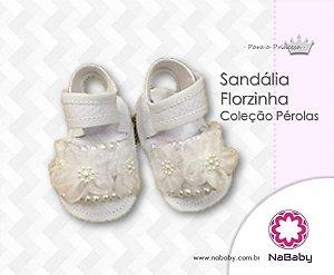 Sandália Florzinha Coleção Pérola