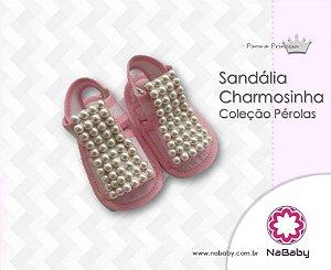 Sandália Charmosinha Coleção Pérolas