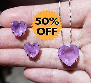 Colar e Brincos Ultra Violet Fusion Premium