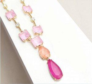 Colar Rosa Luxo