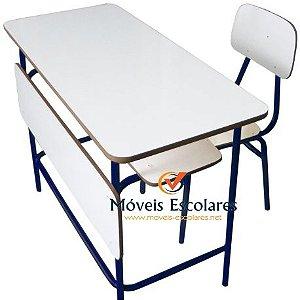 Conjunto Professor Com Porta Livros e Cadeira em fórmica