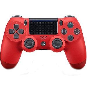 Controle dualshock 4 vermelho para PS4 ( padrão NOVO )