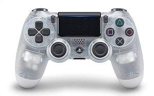 Controle dualshock4 transparente branco para PS4 ( padrão NOVO )