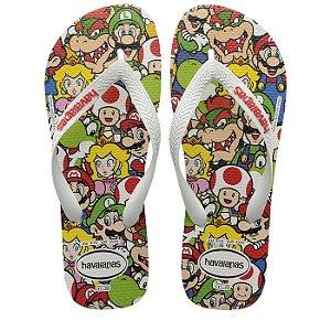 Havaianas Mario Bros Personagens