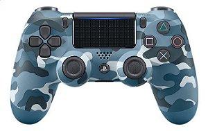 Controle dualshock 4 camuflado AZUL para PS4