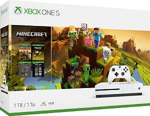 Xbox One S 1tb Com Jogo Minecraft