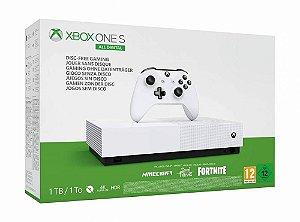 Xbox one S 1TB All Digital s/leitor COM 3 JOGOS