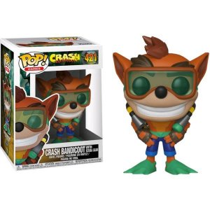 Funko Pop Crash Bandicoot With Scuba Gear 421