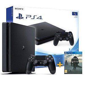 Playstation 4 Slim 1tb + Jogo Shadow Of The Colossus