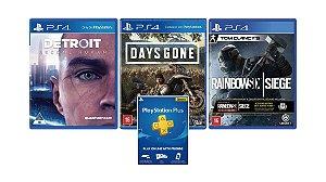 Kit 3 Jogos Ps4 Detroit, Days Gone E Rainbow Six Físico + Psn 3 meses