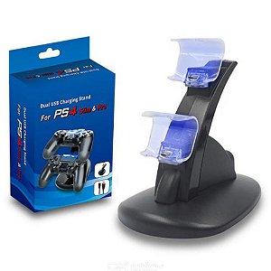 Base para carregar controle PS4 com LED AZUL