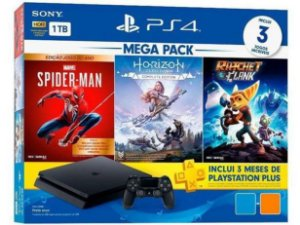 Playstation 4 Slim 1 TB Bundle 3 Jogos com PSN plus 3 meses
