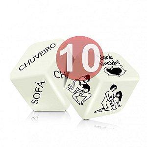 KIT10 - DADO JOGO DO PRAZER HOT GLOW COM 2 UNIDADES