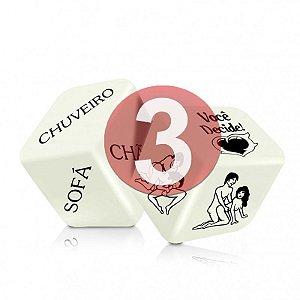KIT03 - DADO JOGO DO PRAZER HOT GLOW COM 2 UNIDADES