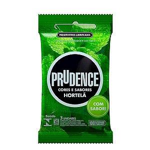 Preservativo camisinha prudence sabor hortelã - 3uni