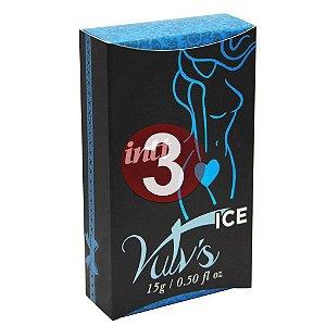 KIT03 - Vulv's ice - estimulante com feromônio feminino - 4x1 Refresca, Estimula, Excita, Lubrifica