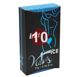 KIT10 - Vulv's ice - estimulante com feromônio feminino - 4x1 Refresca, Estimula, Excita, Lubrifica