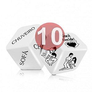 KIT10 - DADO JOGO DO PRAZER HOT COM 2 UNIDADES