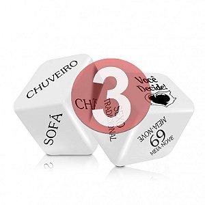 KIT03 - SEXY FANTASY - JOGO CUBO DO AMOR HOT - CONTÉM 2 DADOS