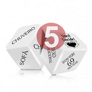 KIT05 - SEXY FANTASY - JOGO CUBO DO AMOR HOT - CONTÉM 2 DADOS