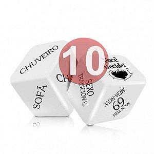 KIT10 - SEXY FANTASY - JOGO CUBO DO AMOR HOT - CONTÉM 2 DADOS
