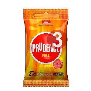 KIT03 - Preservativo camisinha prudence fire - 3uni
