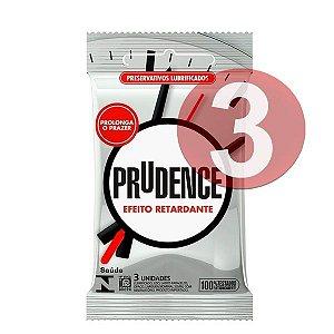 KIT03 - Preservativo camisinha prudence retardante - 3uni