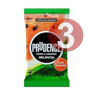 KIT03 - Preservativo camisinha prudence sabor melancia - 3uni