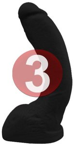 KIT03 - Pênis realístico na cor preta 23x3 cm - Rambo