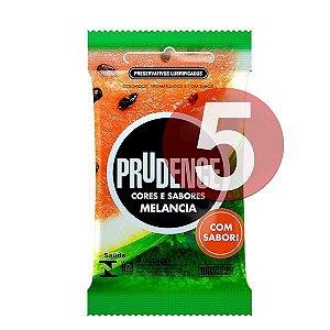 KIT05 - Preservativo camisinha prudence sabor melancia - 3uni