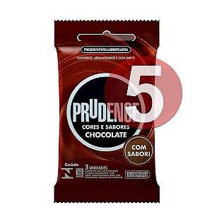 KIT05 - Preservativo camisinha prudence sabor chocolate - 3uni