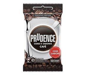 KIT05 - Preservativo camisinha prudence sabor Café - 3uni