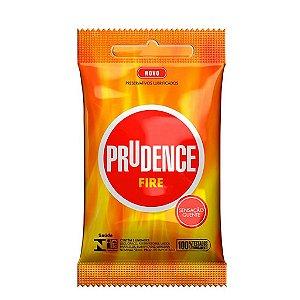 KIT10 - Preservativo camisinha prudence fire - 3uni